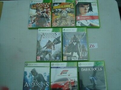 XBOX 360 Games Joblot OF 8 GAMES see pics  (Lot Z6)