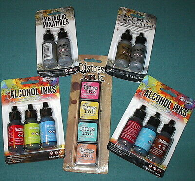 LOT of 14 - TIM HOLTZ Ranger Adirondack ALCOHOL & MINI INKS - New!