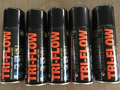 5 Tri-Flow TFL200 34689 Industrial Lubricant with PTFE. 5 X 200ml = 1000ml New