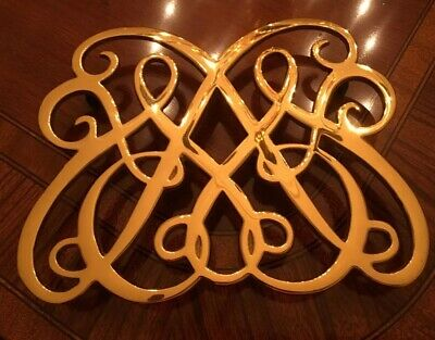 Virginia Metalcrafters~Colonial Williamsburg CW 10-50~ Solid Brass Trivet
