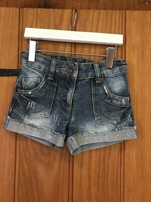 Next Lovely Denim Girls Shorts Age 4yrs 100% Cotton In Excellent Condition