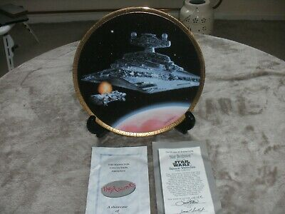 """Star Wars The Hamilton Collection """"STAR DESTROYER"""" Plate (1995) (VGC)"""