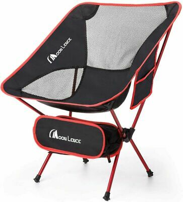 MOON LENCE Outdoor Ultralight Portable Folding Chairs with Carry Bag Red