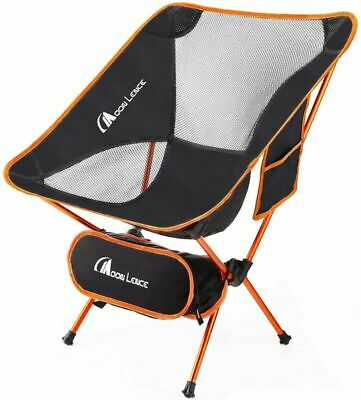 MOON LENCE Outdoor Ultralight Portable Folding Chairs with Carry Bag Orange