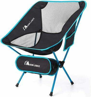 MOON LENCE Outdoor Ultralight Portable Folding Chairs with Carry Light Blue