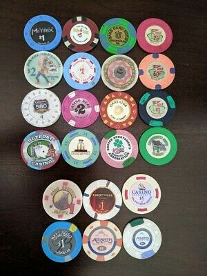 (22) Casino Poker Chip LOT California etc
