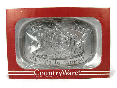 Wilton Armetale Country Ware Give Us Bread Pewter Polished Tray