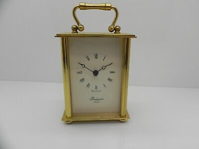 Vintage / Retro Style Rapport London Brushed & Polished Brass Carriage Clock