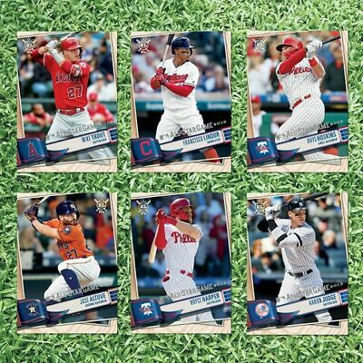 2019 Topps Big League All Star Play Ball Park 6 Card Redemption Set Trout Lindor