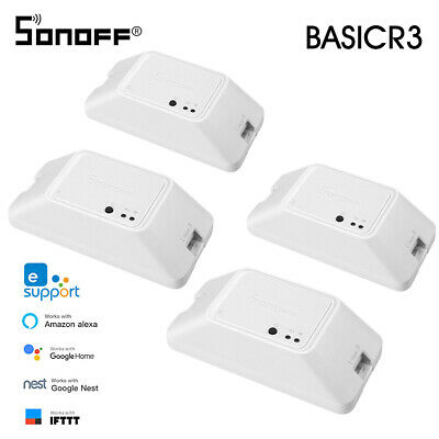SONOFF BASICR3 WIFI DIY Smart Switch With Timer Internet APP Voice LAN D3T4