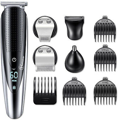 Mens Cordless Beard Hair Trimmer Kit Trimmer Body Grooming Kit Rechargeable USB