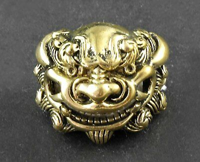 Screw-eye Son of Dragon Head Brass concho for wallet Leather Craft