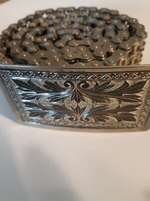 Vintage Motorcycle Primary Chain Belt and Buckle Easy Rider Harley 35