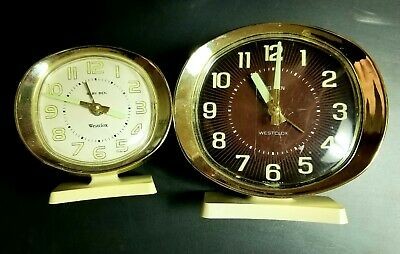 "Vintage Westclox  set of 2  Big Ben and  Baby Ben ""working"""