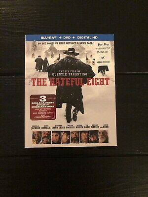 The Hateful Eight (Blu-ray/DVD, 2016, 2-Disc Set, Includes Digital Copy...