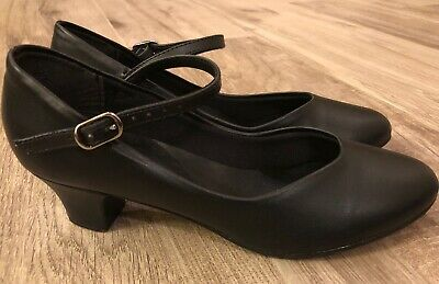 So Danca CH50 Character Shoe 6.5 L Black Dance Shoes Mary Jane Heel!