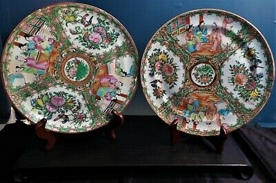 Chinese Rose Medallion Plates~Very Early Pieces