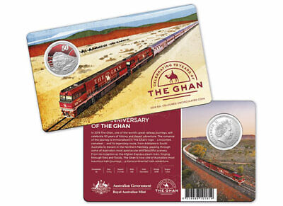 2019 50c 90th Anniversary of The Ghan