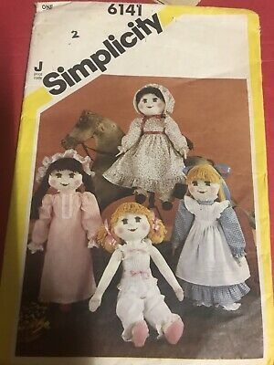 Simplicity Sewing Pattern Doll and  Clothes