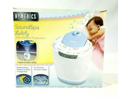 Homedics SoundSpa Lullaby Rotating Picture Projection Auto Off Timer CP-SS3000A