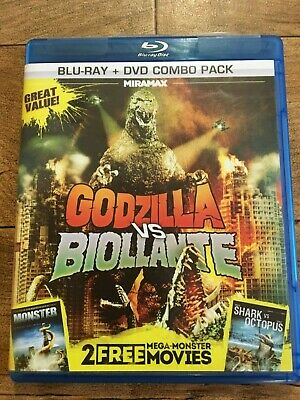 Godzilla vs. Biollante, Monsters, Mega Shark vs. Giant Octopus Blu-ray + DVD OOP