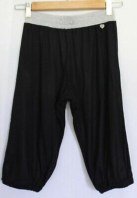 LITTLE MISS LORNA JANE ~ Girls Black Grey Soft Viscose Knee Length Yoga Pants 6