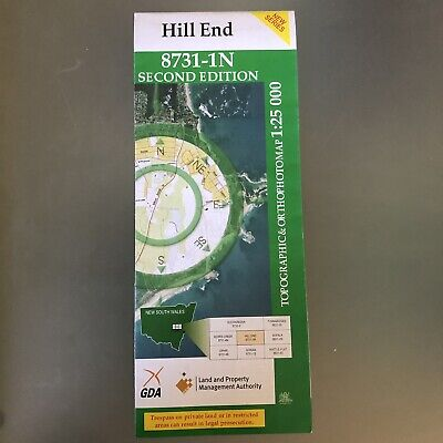 Hill End Topo Map 1:25 000