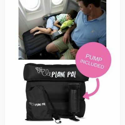 PLANE PAL Full Kit with Pump & Bag  - Inflatable Travel Pillow Foot Rest Cushion