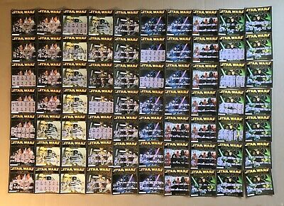 Lot of 138 Star Wars 2005 California Lottery Used Tickets / Scratchers