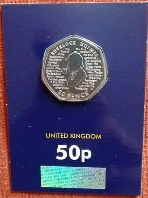 2019 SHERLOCK HOLMES 50p Fifty Pence Coin Brilliant Uncirculated BU Sealed Pack