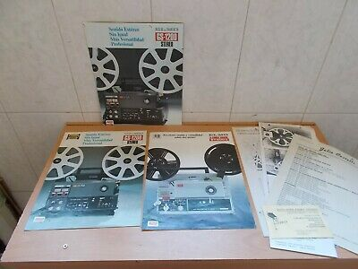 Lote de Folletos ORIGINALES de Proyector ELMO GS 1200 Stereo y ELMO ST-600 D etc