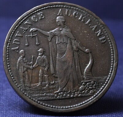 New Zealand, Auckland Penny Token, Morrin & Co. Excellent Example, See Photos