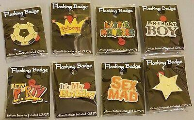 Flashing Badges Job Lot Of 368. Ideal for resale.