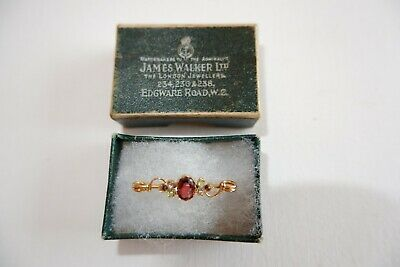 Suffragette Edwardian 9Ct Yellow Gold Bar Brooch  - C1900'S Period Box!