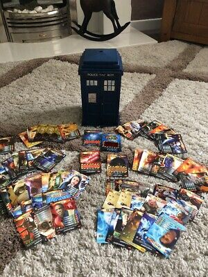 Doctor Who Battle In Time Tardis Card Holder and Job Lot Trading Cards Bulk