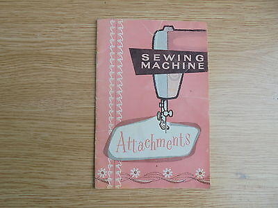 Sewing Machine attachment booklet
