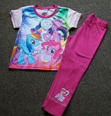 Girls PEACOCKS Official My Little Pony Unicorn Pyjamas Age 6-7 Years BRAND NEW