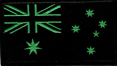 Australian Flag ANF Embroidered Patch Green/Black