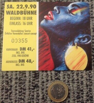 Ticket Waldbuhne, Berlin, 22 September 1990 RARE, EXCELLENT!