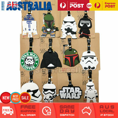 Star War Travel Luggage Tag Adult Baggage Kids School ID Name Label Silicone