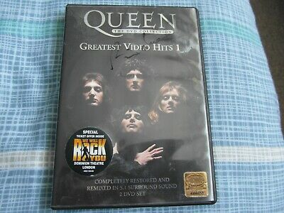 Signed Brian May Queen Greatest Video Hits 1 Two Disc Dvd Set