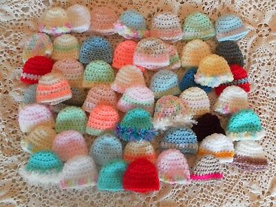 Bulk lot Barbie Doll HATS  Handmade.NEW.50 all different Clothes Accessories