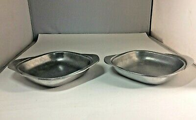 Vintage Lot of 2 Pieces Wilton Armetale RWP Pewter Serving Bowls or Candy Dishes