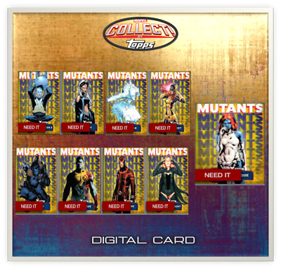 2019 X-MEN MUTANTS YELLOW COMPLETE SET OF 9 Topps Marvel Collect Digital Card
