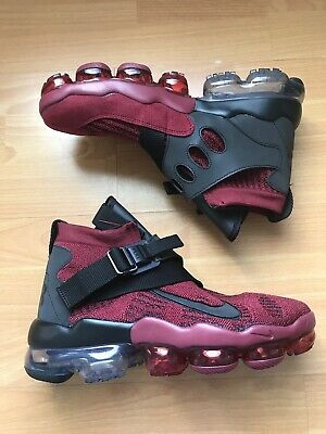 NEW Nike Air Vapormax Premier Flyknit Mens Size 9 Team Red Black AO3241-600