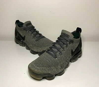 Nike Air Vapormax Flyknit 2 Gray Black Running Shoes Size 8 942842-002