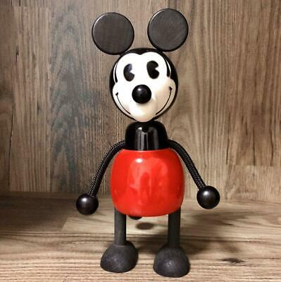 Disney Mickey Mouse Wood Big Coin Bank (No Plug) about 25cm Vintage FS fr Japan