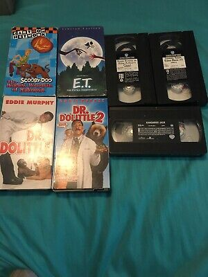VHS Lot # 9 - Dr Dolittle - Scooby Doo - Looney Tunes + More (7 Tapes Total)