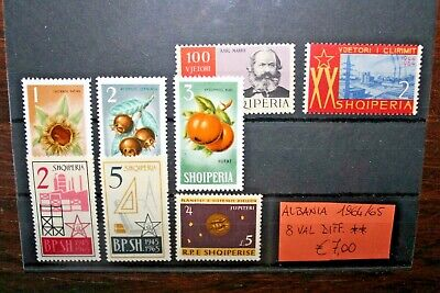 Albania 1964/65 - 8 Different Stamps Nuovi Mnh** Lot (Cat.5A)