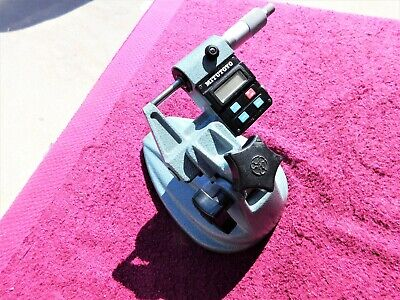 """Mitutoyo *Mint!* 293-301 0-1"""" Outside Micrometer With 156-101 Micrometer Stand!"""